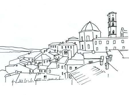 Трафарет: средневековый город
