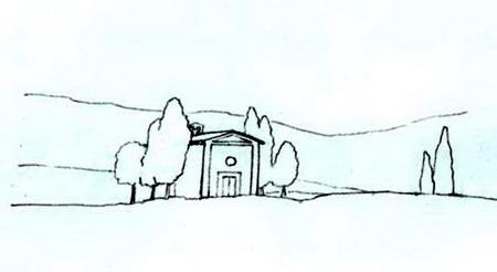 Как нарисовать акварелью закат