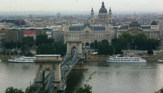 Цепной мост имени Сечени. Купол базилики Святого Иштвана