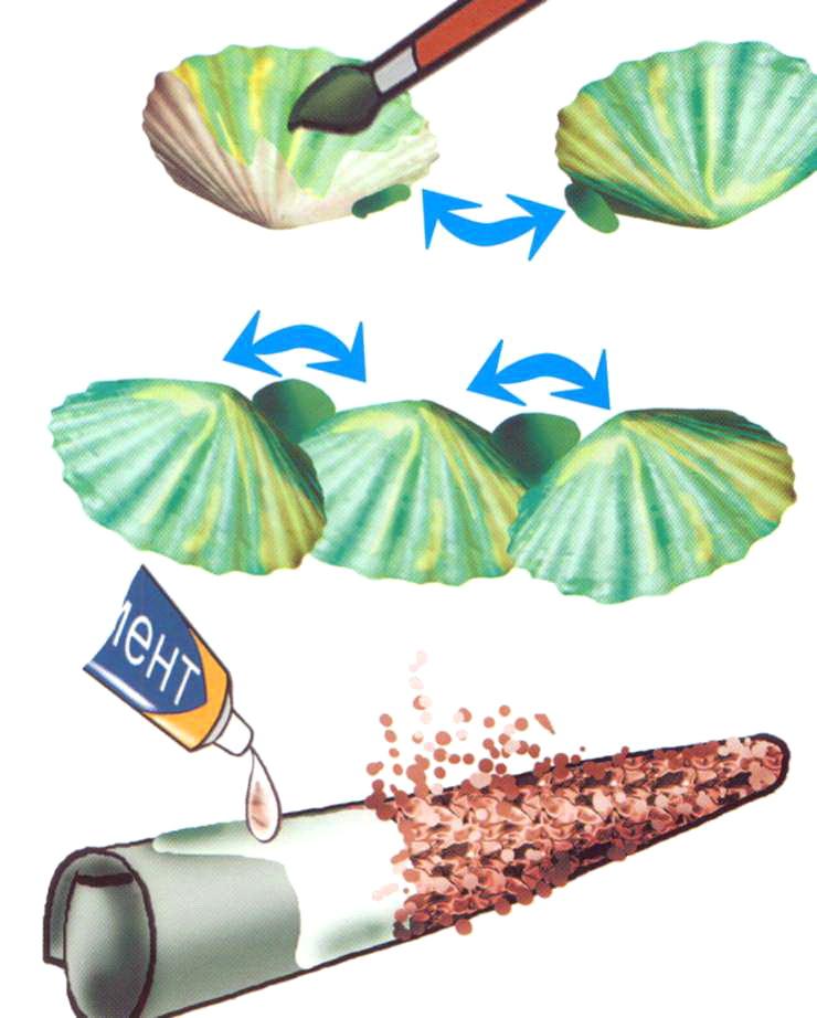 Островок из ракушек — мастерим сами