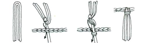Процесс вязания кистей