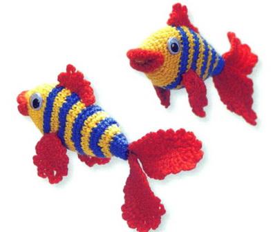 (для вязания тела рыбки);